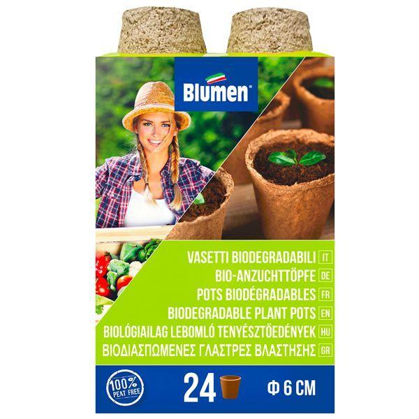 24 Στρογγυλά γλαστράκια κοκκοφοίνικα biomastores.gr .